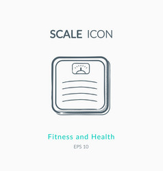 scales icon on white background vector image