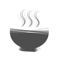 Soup sign gray icon shaked at white vector