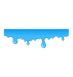 Stain of blue paint vector