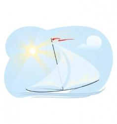 sun ship vector image vector image