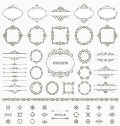 Vintage frames dividers mega set vector
