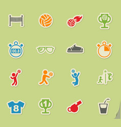 Volleyball icon set vector