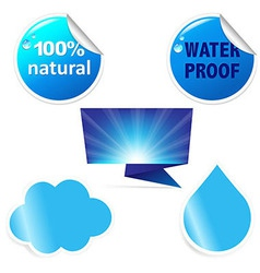Water Sticker vector image vector image