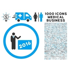 2016 show icon with 1000 medical business vector