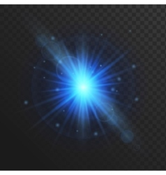 Glow light effect stars burst with sparkles vector