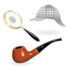 Detective set vector