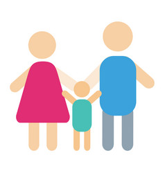 People silhouette happy family cartoon and vector