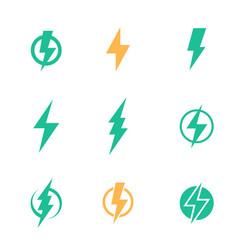 Lightning bolt signs on white vector