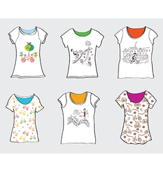 Bicycle designs for t-shirts vector