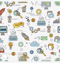 Social media marketing pattern vector
