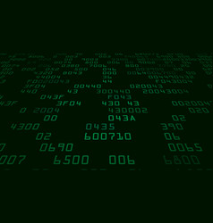 Green security background with hex-code vector