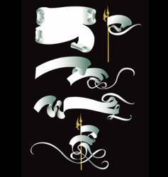 Scroll banner vector