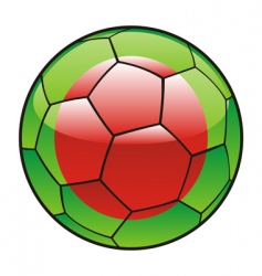 Bangladesh flag on soccer ball vector
