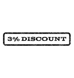 3 percent discount watermark stamp vector image