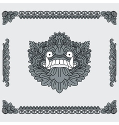 Traditional indonesian art head of deity and vector