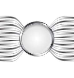 Abstract silver metal background vector image