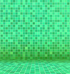 Green swimming pool ceramic vector