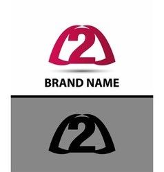 Number logo design number two logo vector