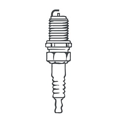 Spark plug isolated vector