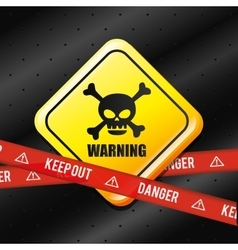 Danger advertising design vector