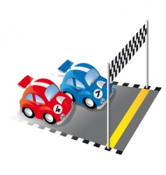 cartoon racing cars vector image