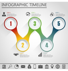Infographic design template and marketing icon vector image