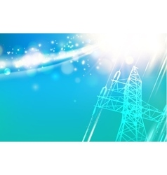 Electric power tower vector image