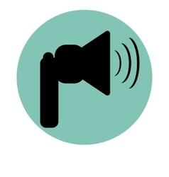 Icon for sound Internet web site silhouette black vector image