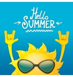 Hello summer rock n roll poster summer party vector