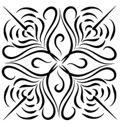 Doodle hand drawn flower vector image