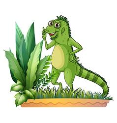 A big reptile vector image vector image