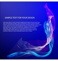 Abstract background with color waves on vector image vector image
