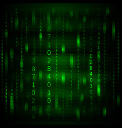 Abstract green background in the style of a matrix vector