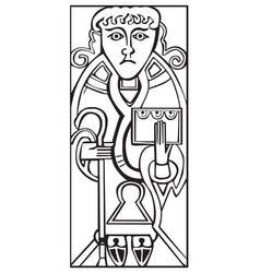 an old celtic symbol of saint luke vector image vector image