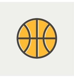 Basketball ball thin line icon vector image vector image