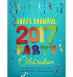Brazil carnival 2017 party poster template vector