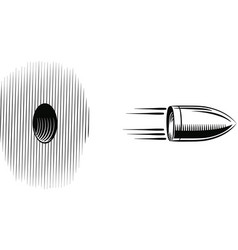 Bullet shot which goes out from a hole vector