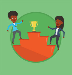 businesswomen competing for the business award vector image vector image
