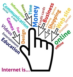 Concept of Internet in some words vector image