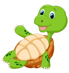 Cute tortoise cartoon relaxing vector image