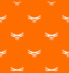 drone video camera pattern seamless vector image vector image