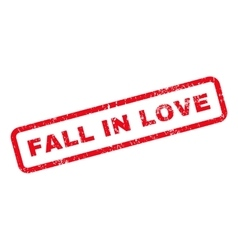 Fall in love text rubber stamp vector