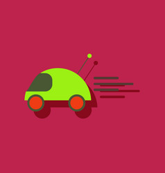 Flat icon design remote control car in sticker vector
