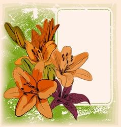 floral frame eps 10 vector image vector image