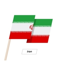 Iran Ribbon Waving Flag Isolated on White vector image