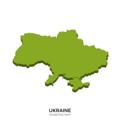 Isometric map of Ukraine detailed vector image vector image