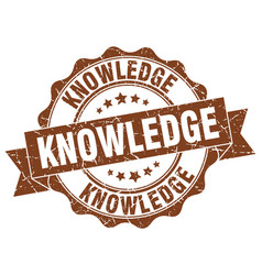 Knowledge stamp sign seal vector