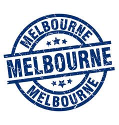 Melbourne blue round grunge stamp vector