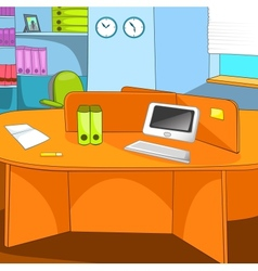 Office Place vector image
