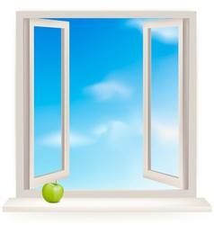 open window vector image